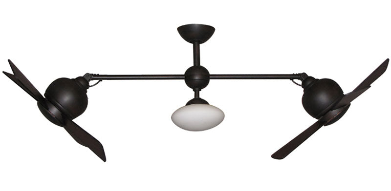 Double ceiling fan metropolitan ceiling fan shoppe metropolitan double ceiling fan oil rubbed bronze mozeypictures Choice Image