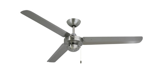 56 inch Tornado Ceiling Fan by TroposAir  Stainless Steel - tropical-fan-company