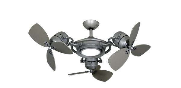 18 inch Tristar Triple Ceiling Fan with Light