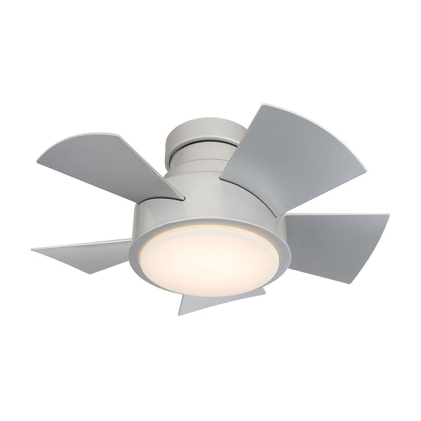 26 inch Vox Flush mount Ceiling Fan - Titanium Silver Finish