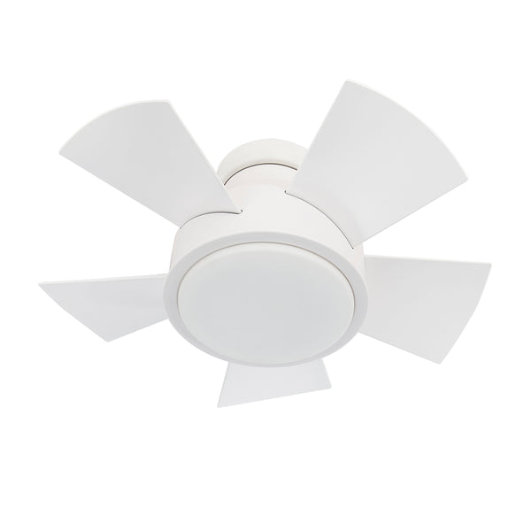 26 inch Vox Flush mount Ceiling Fan - Matte White Finish
