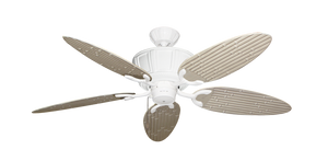 52 inch Centurion Ceiling Fan - Bamboo or Palm Style Reversible Blades - tropical-fan-company