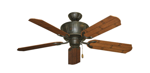 52 inch Centurion Ceiling Fan - Natural Cherry Plank Blades - tropical-fan-company