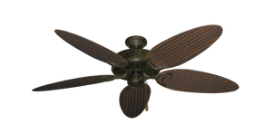 52 inch Outdoor Dixie Belle Ceiling Fan - Bamboo / Palm Style Blades - tropical-fan-company