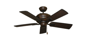 "44"" Madeira with Distressed Walnut Finished Blades - tropical-fan-company"