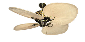 56 inch Palm Bay Ceiling Fan with Natural Palm Blades - tropical-fan-company