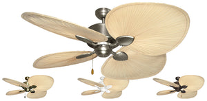 56 inch Palm Breeze II Ceiling Fan with Natural Palm Blades - tropical-fan-company