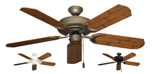 52 inch Raindance Ceiling Fan - Natural Cherry Plank Blades - tropical-fan-company