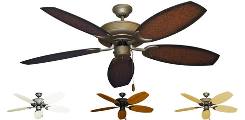 52 inch Raindance Ceiling Fan - Oar Blades - tropical-fan-company