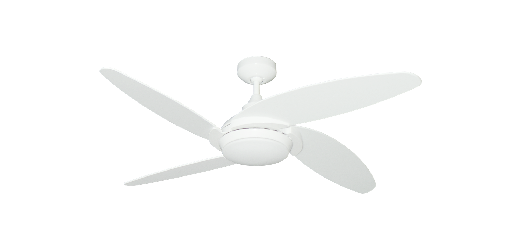 pure white finish ceiling fan
