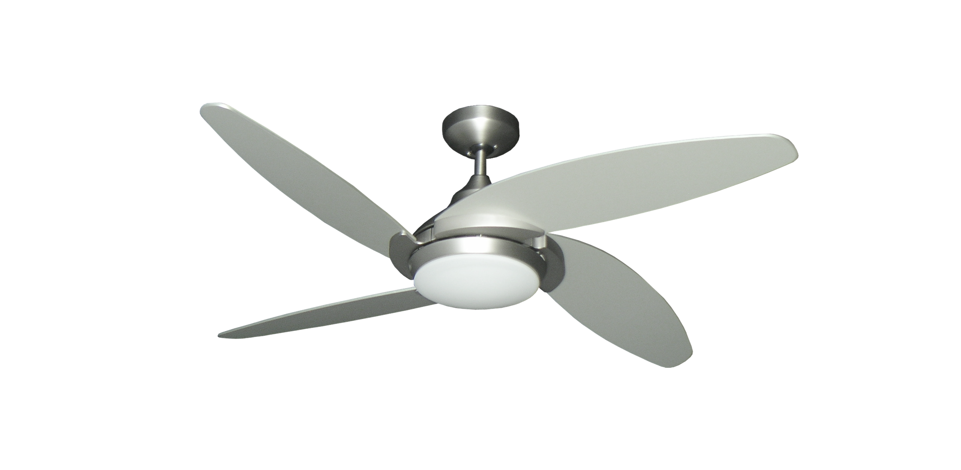 satin steel finish ceiling fan