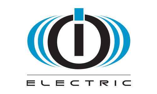 logo of IO Electric in black