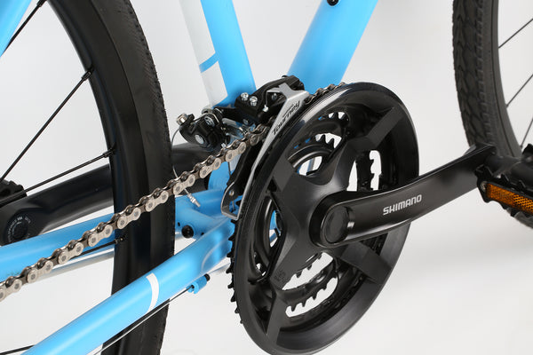 2019 Haro Commuter Aire Sky Blue White Detail 4.