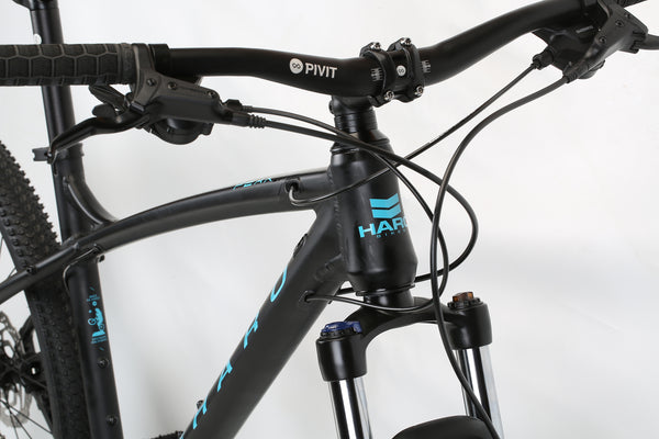 2020 Haro MTB Double Peak 275 Sport Matte Black Detail 11.