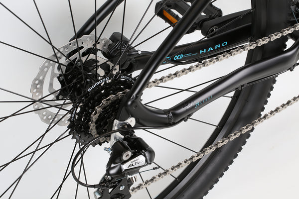 2020 Haro MTB Double Peak 29 Sport Matte Black Detail 4.