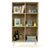 Stockholm Bookcase with Adjustable Shelving Storage Bookshelf, Oak/White
