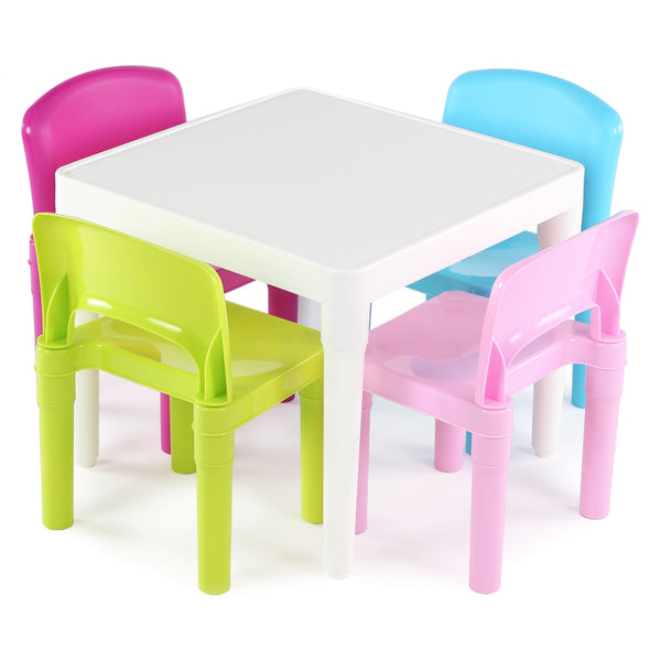 Plastic Table & 4 Chairs Set, Girl