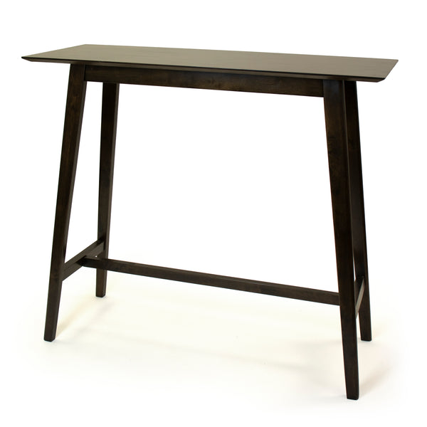 Lenox Wood High Bar Bistro Table, Dark Espresso