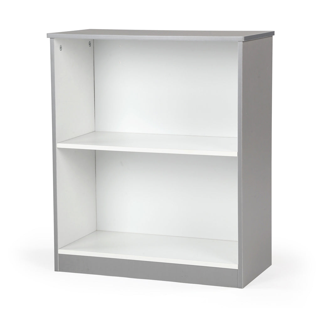 Explorer 2 Shelf Bookcase, Grey/White