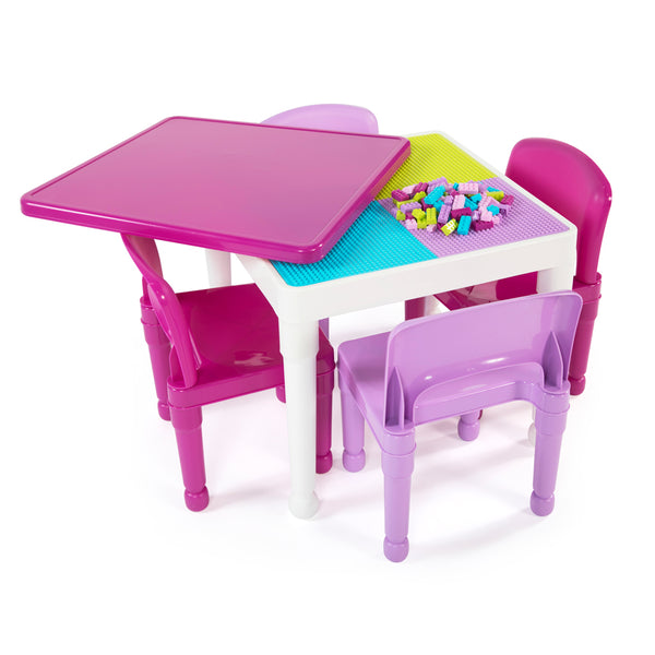 Friends Square 2-in-1 Activity Table with 4 Chairs