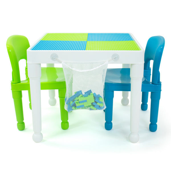 Square Construction Table & 4 Chairs Set