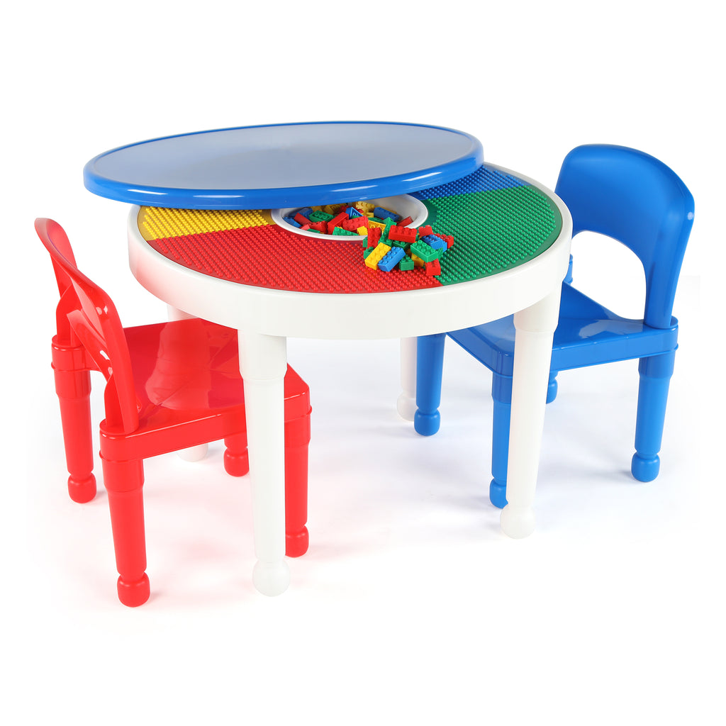 Playtime 2-in-1 LEGO Compatible Activity Table - Blue Cover