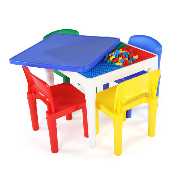 Summit Square 2-in-1 Activity Table with 4 Chairs