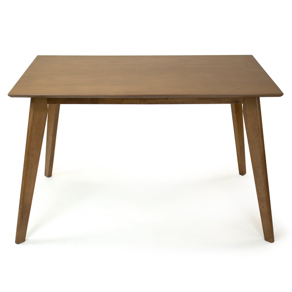Quinn Mid-Century Wood Kitchen Dining Table, Walnut