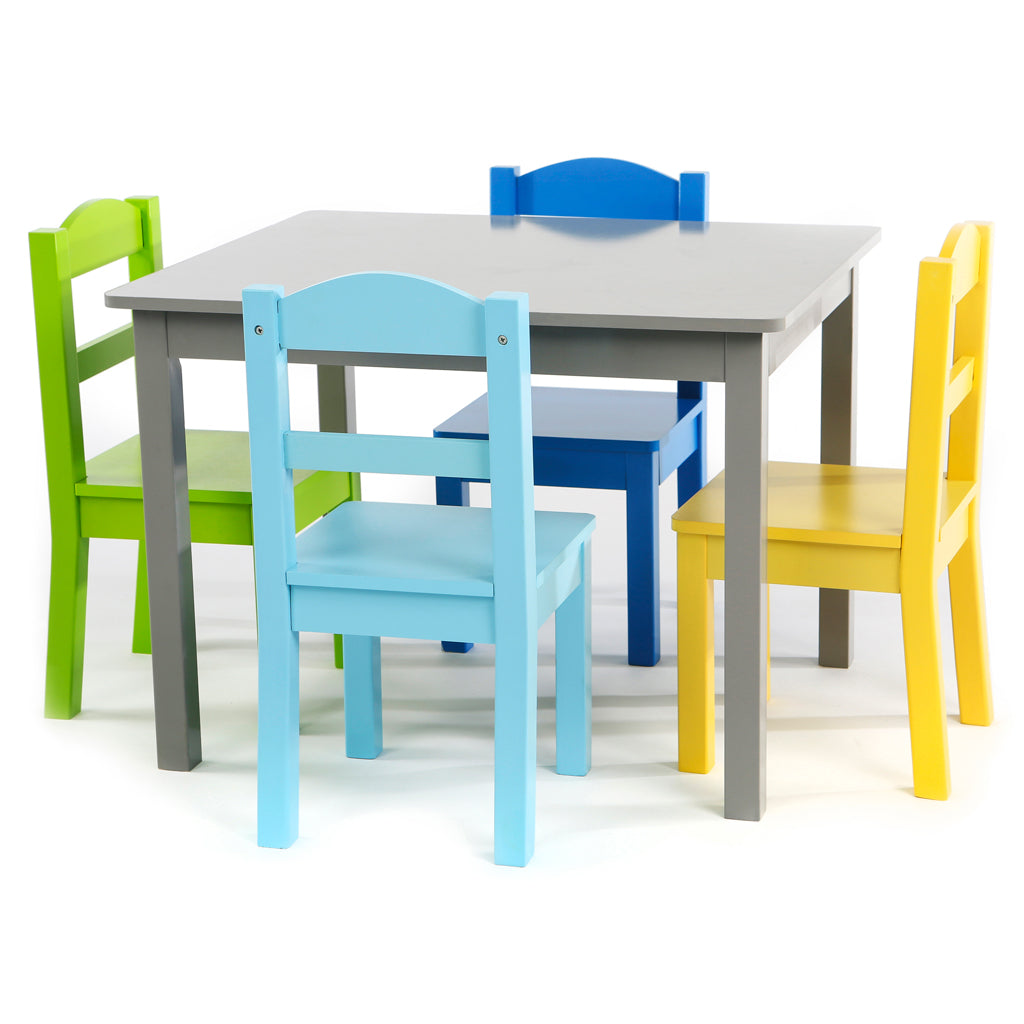 Elements Grey Wood Kids Table & 4 Chairs