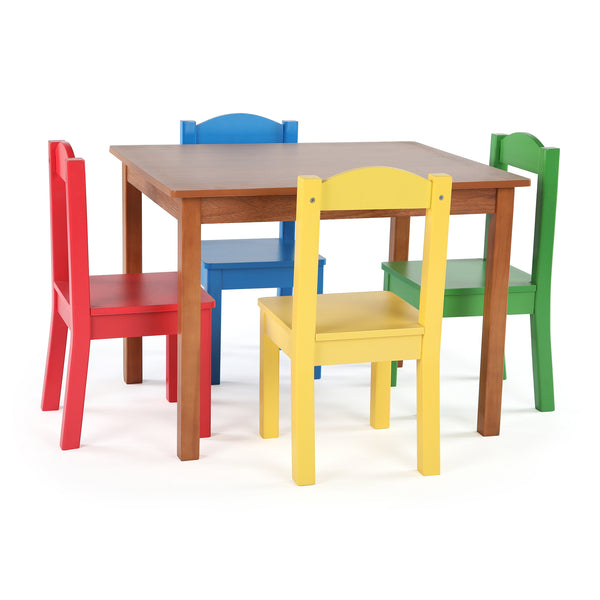 Highlight Cedar Wood Kids Table & 4 Primary Chairs