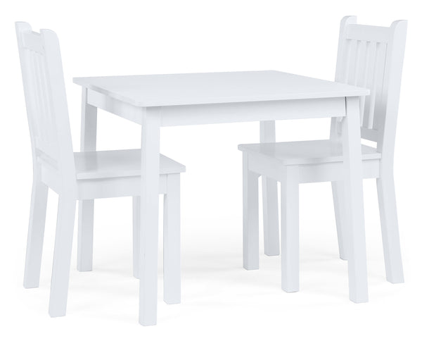 Daylight Wood Table & 2 Chairs Set, White