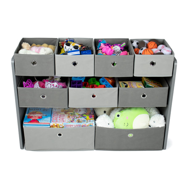 Camden Fabric Multi Bin Toy Organizer with 9 Storage Bins