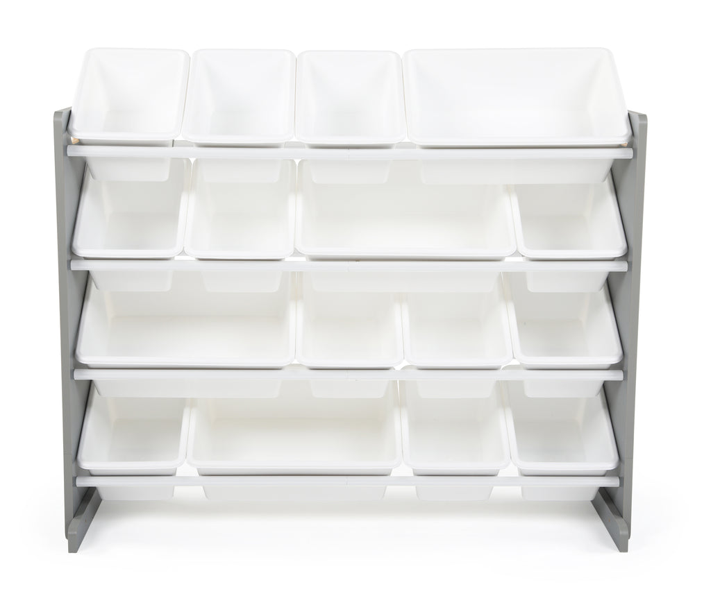 Springfield Supersized Grey and White 16-Bin Toy Organizer