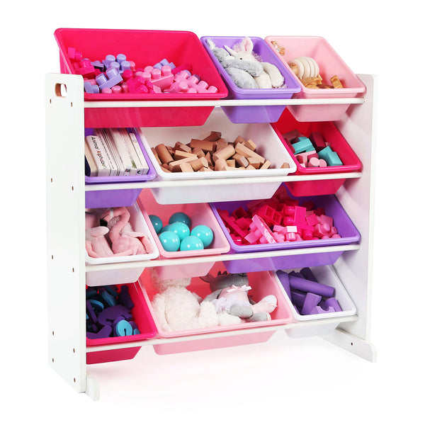 Friends White, Pink, and Purple 12-Bin Toy Organizer