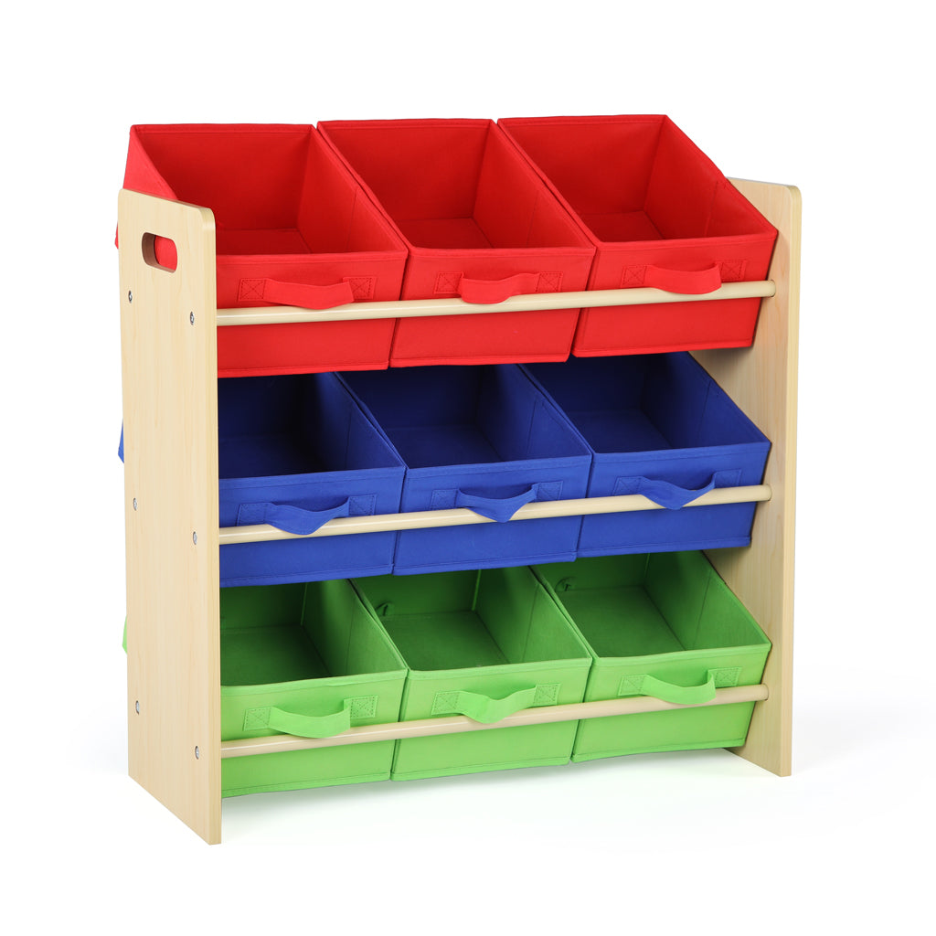 Primary Toy Organizer with 9 Fabric Bins
