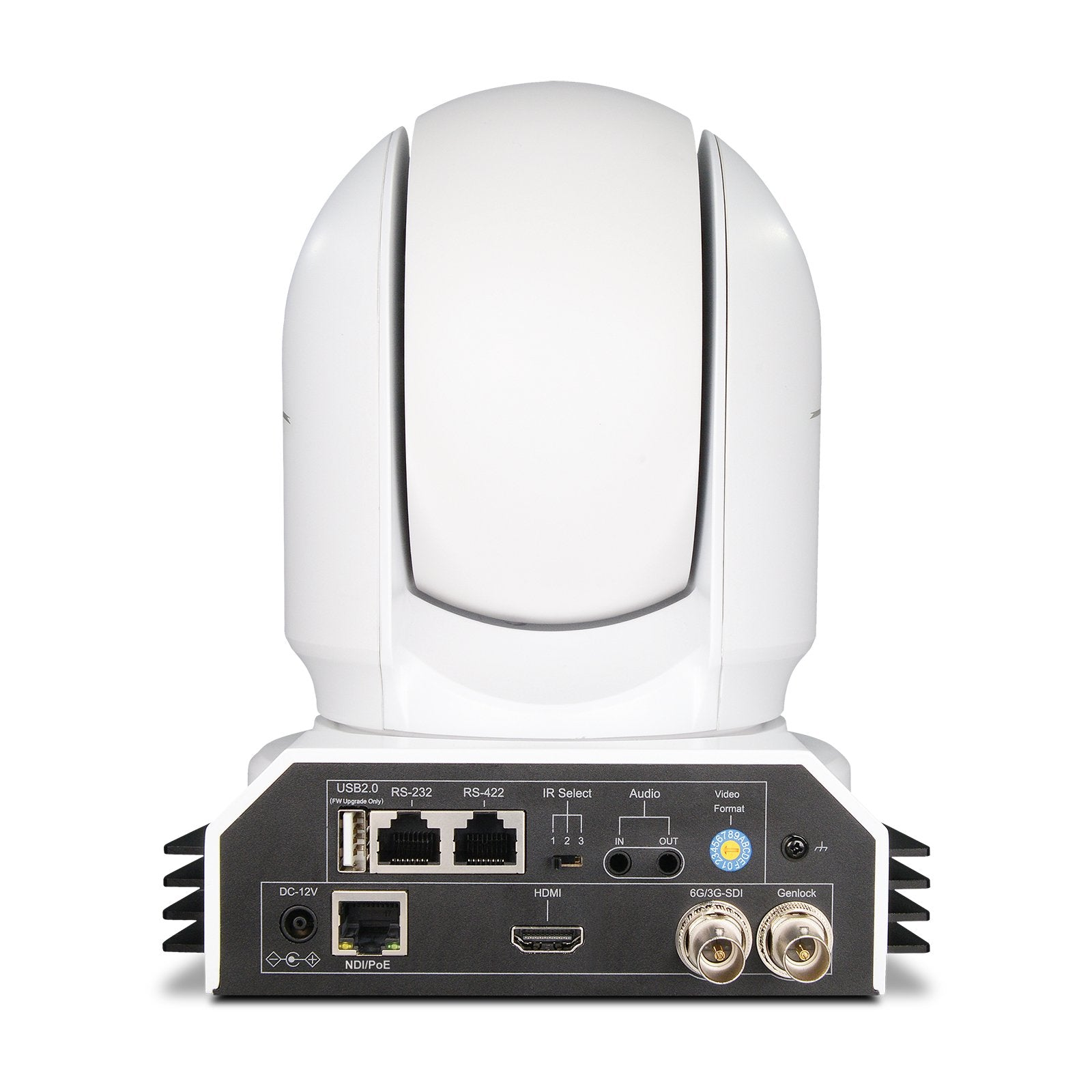 BDP400W 10-Bit 20x Full NDI 4K PTZ Camera (White)