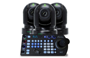 3x P200 Cameras (Black) and 1x FREE PTZ Keyboard