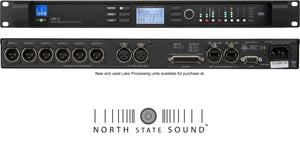 North State Sound offers Lake Processing LM26, a digital DSP and loudspeaker management processor with industry leading Equalization and digital mixer matrix with Dante, AES and analog I/O
