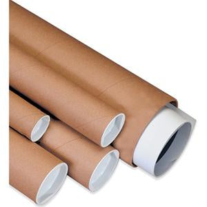 37a31b458cd6e Brown Mailing Tubes with End Caps