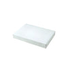 10 x 7 x 1 1/4 White Gloss Apparel Box 100/Case