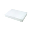 11 1/2 x 8 1/2 x 1 5/8 White Apparel Box - Matte Finish 100/Case