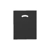 12 x 15 High Gloss Black Plastic Bags w/ Die Cut Handle 1000/Case