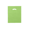 12 x 15 High Gloss Citrus Green Plastic Bags w/ Die Cut Handle 1000/Case