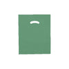 12 x 15 High Gloss Hunter Green Plastic Bags w/ Die Cut Handle 1000/Case