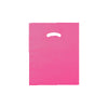 12 x 15 High Gloss Hot Pink Plastic Bags w/ Die Cut Handle 1000/Case