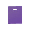 12 x 15 High Gloss Purple Plastic Bags w/ Die Cut Handle 1000/Case