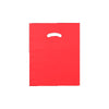 12 x 15 High Gloss Red Plastic Bags w/ Die Cut Handle 1000/Case