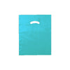 12 x 15 High Gloss Teal Plastic Bags w/ Die Cut Handle 1000/Case