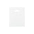 12 x 15 High Gloss White Plastic Bags w/ Die Cut Handle 1000/Case