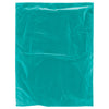12 x 15 Teal Hi-Density Flat Merchandise Bags (.60 mil thickness) 1000/Case